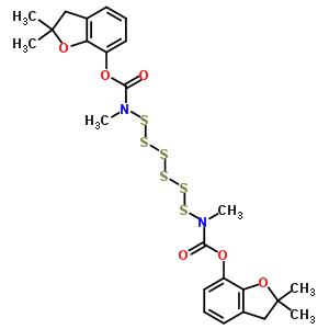 79438-68-9 bis(2,2-dimethyl-2,3-dihydro-1-benzofuran-7-yl) hexasulfane-1,6-diylbis(methylcarbamate)