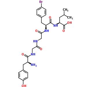 89705-56-6 L-tyrosylglycylglycyl-4-bromo-L-phenylalanyl-L-leucine