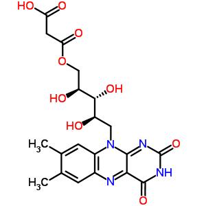 88623-79-4 1-O-(carboxyacetyl)-5-deoxy-5-(7,8-dimethyl-2,4-dioxo-3,4-dihydrobenzo[g]pteridin-10(2H)-yl)-D-ribitol